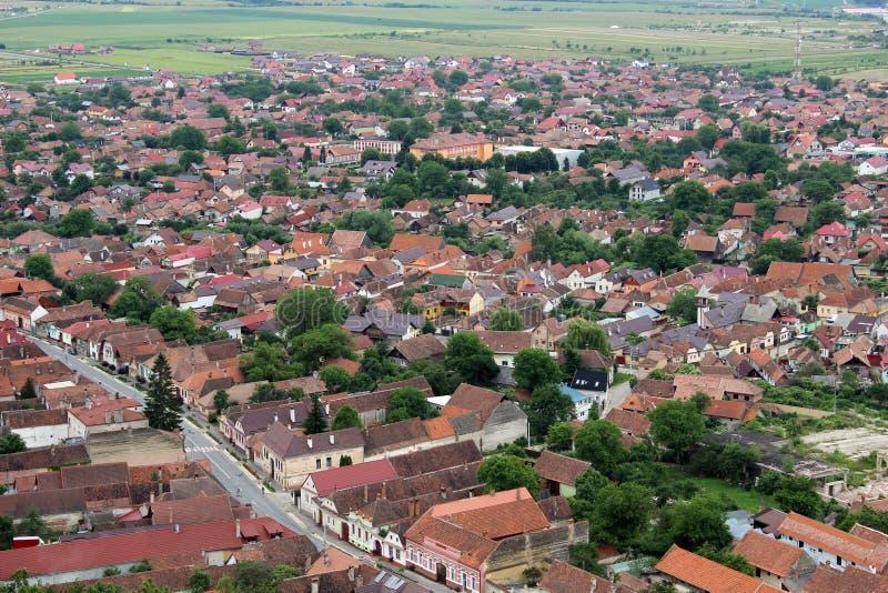 Roemeens dorp van bovengenoemd (Risnov) stock afbeeldingen
