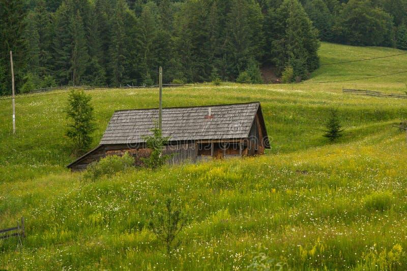 Roemeens helling en dorp in de zomertijd royalty-vrije stock foto