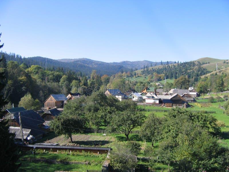 Roemeens landschap stock afbeeldingen