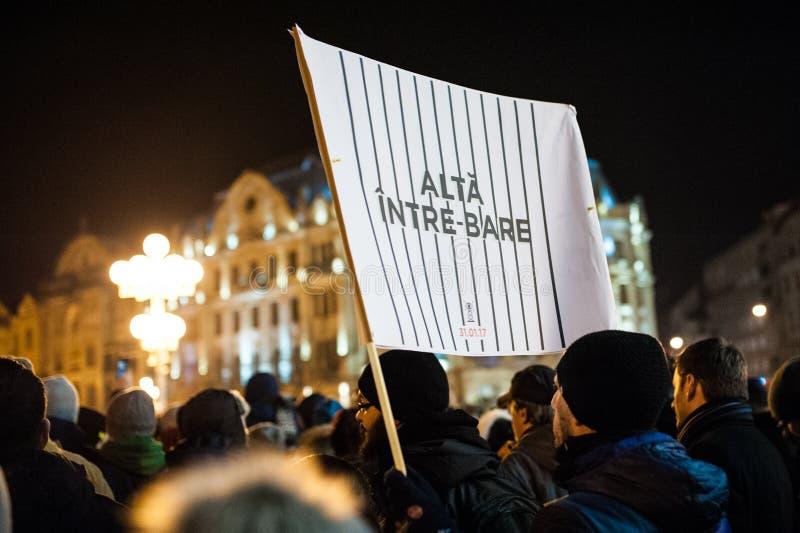 Roemeens protest voor democratie royalty-vrije stock fotografie