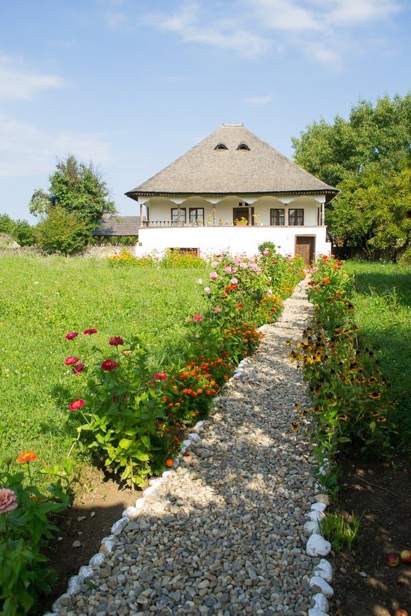 Roemeens traditioneel huis, de historische provincie van Oltenia royalty-vrije stock afbeeldingen