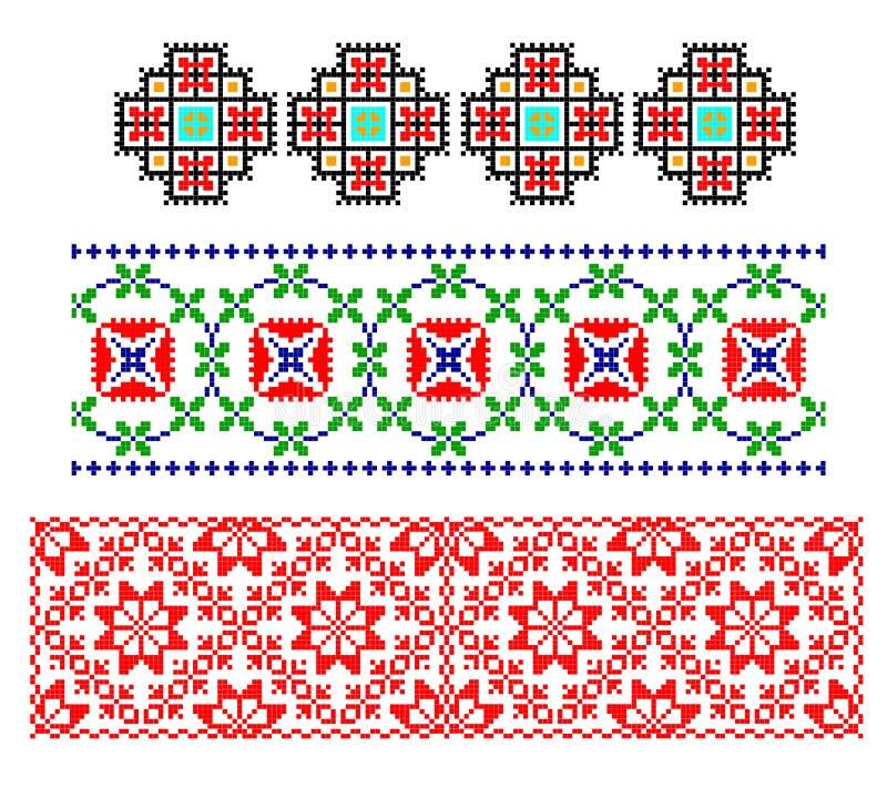 Roemeens traditioneel tapijtthema stock illustratie