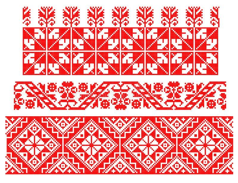 Roemeens traditioneel tapijtthema vector illustratie