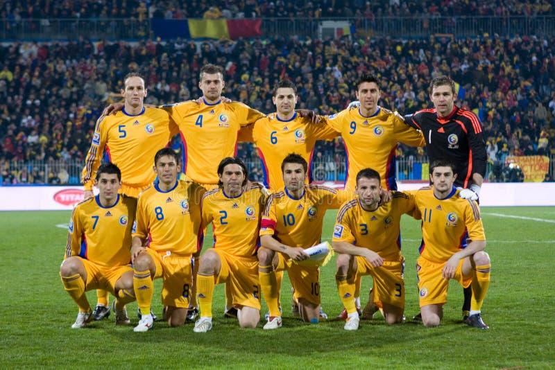 Roemeens voetbalteam redactionele stock foto. Afbeelding ...
