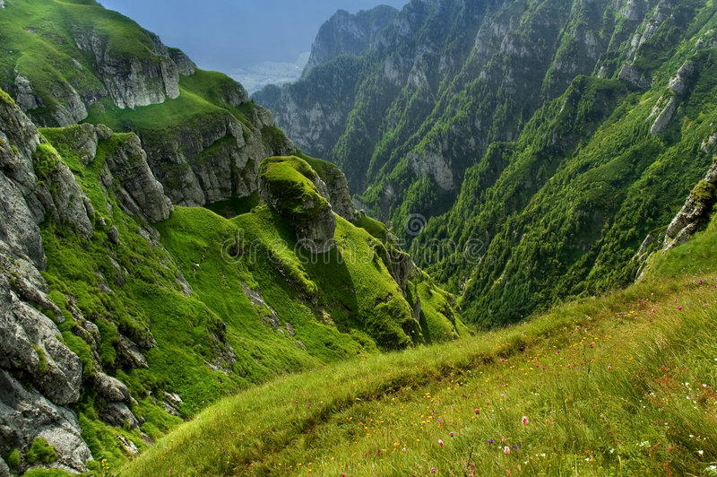 Roemeense bergen stock afbeeldingen