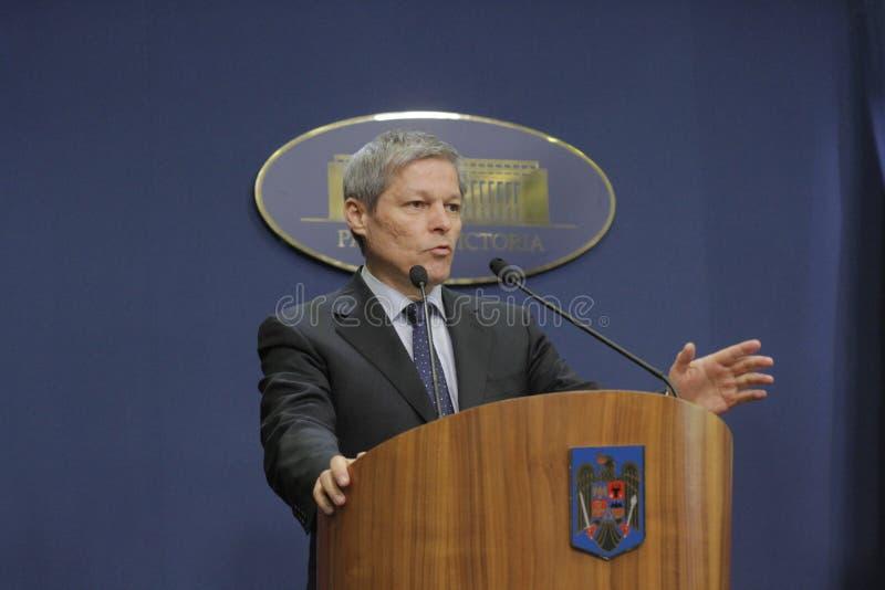 Roemeense Eerste minister Dacian Ciolos stock afbeeldingen
