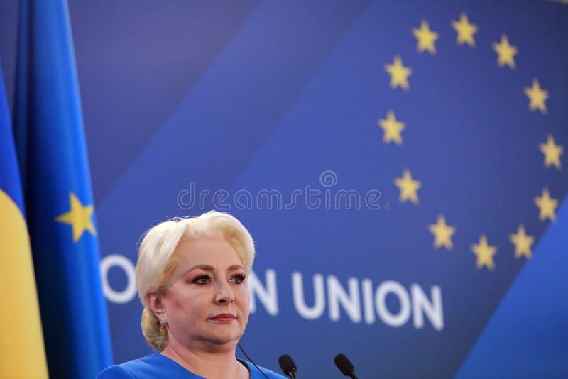 Roemeense Eerste minister Viorica Dancila royalty-vrije stock afbeelding