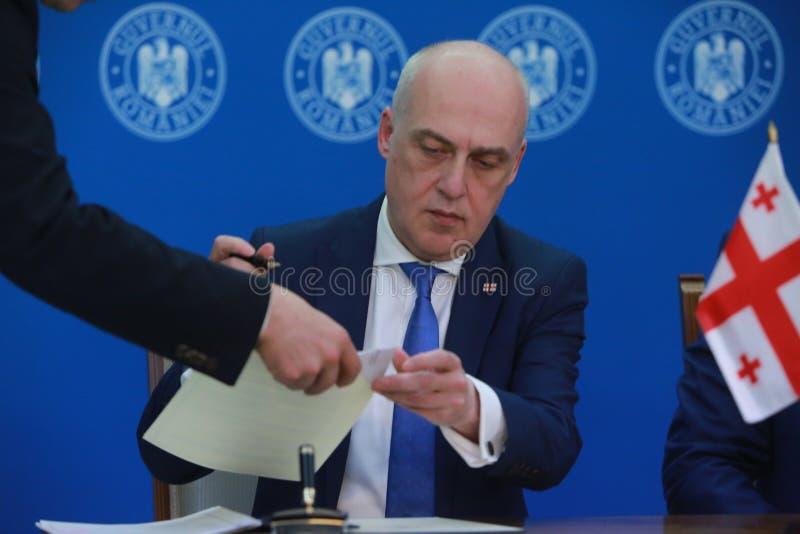 Roemeense Eerste minister Viorica Dancila stock fotografie