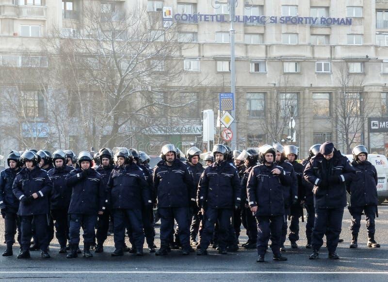 Roemeense Gendarmes stock foto