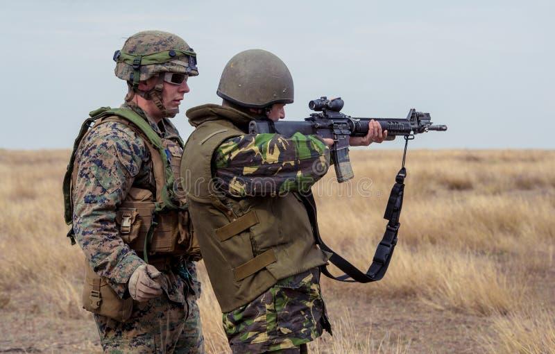 Roemeense infanterie stock afbeelding