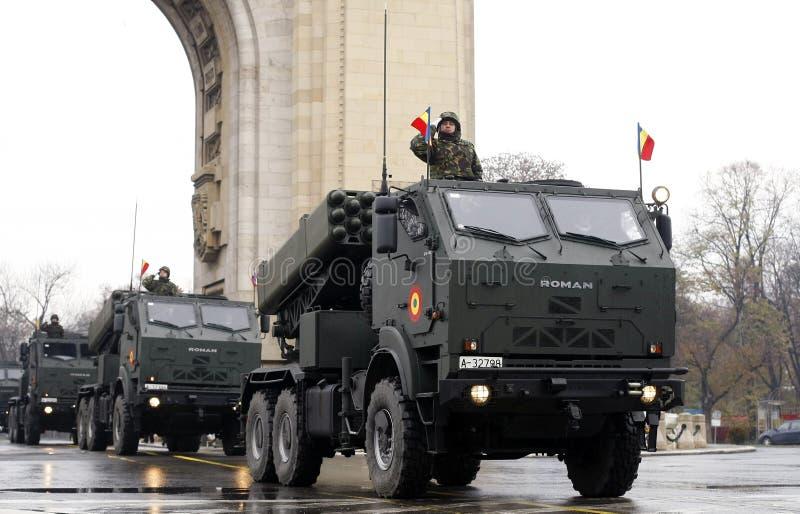 Roemeense legerparade stock fotografie