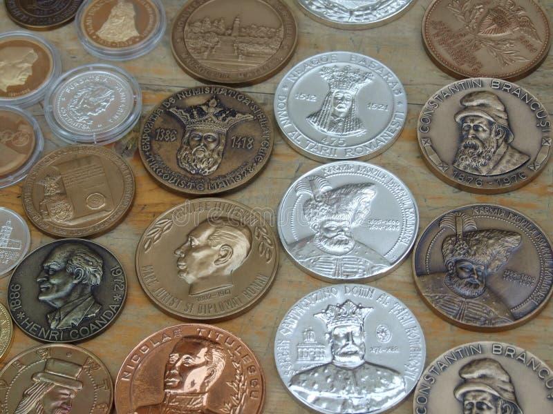 Roemeense Medailles Stock Afbeeldingen