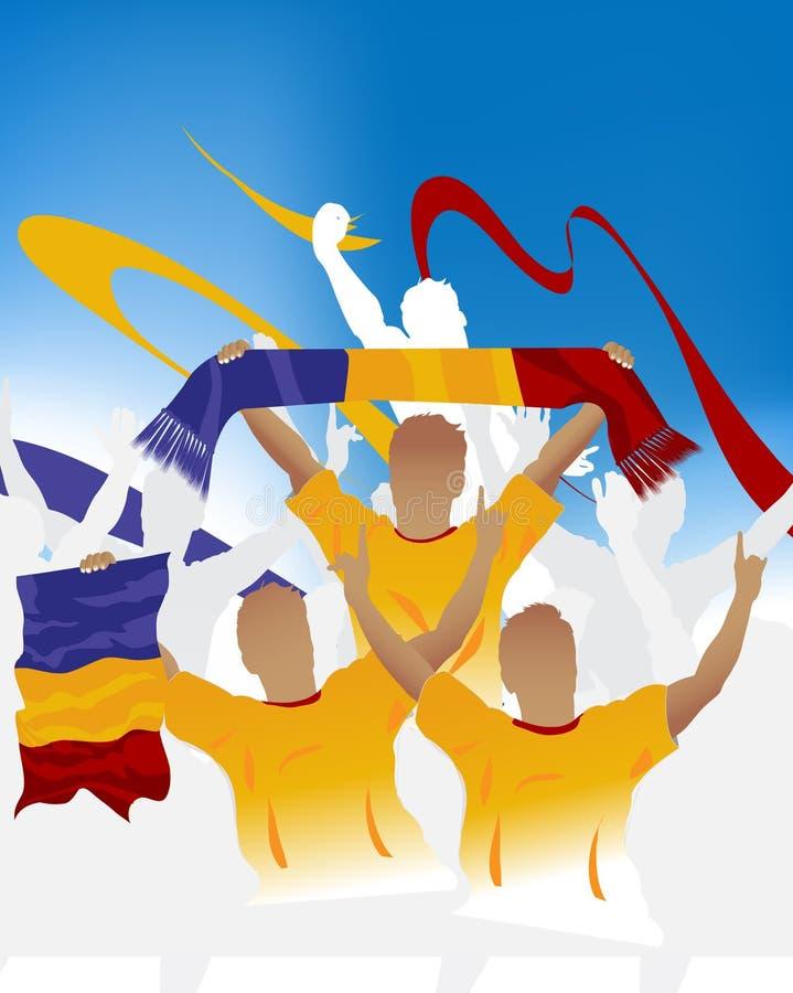 Roemeense menigte stock illustratie