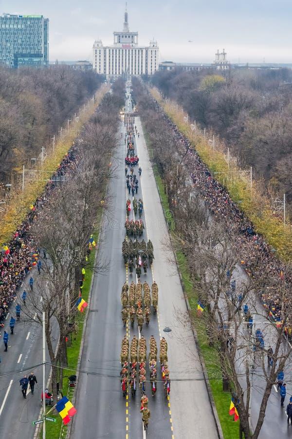 Roemeense militaire parade stock afbeeldingen