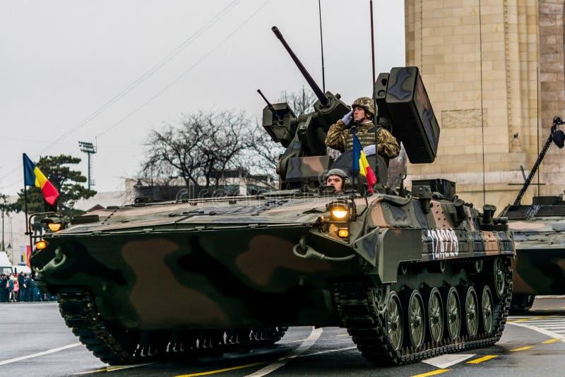 Roemeense militaire parade royalty-vrije stock afbeeldingen