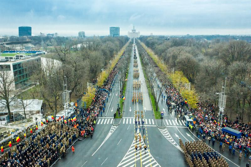 Roemeense militaire parade royalty-vrije stock afbeelding