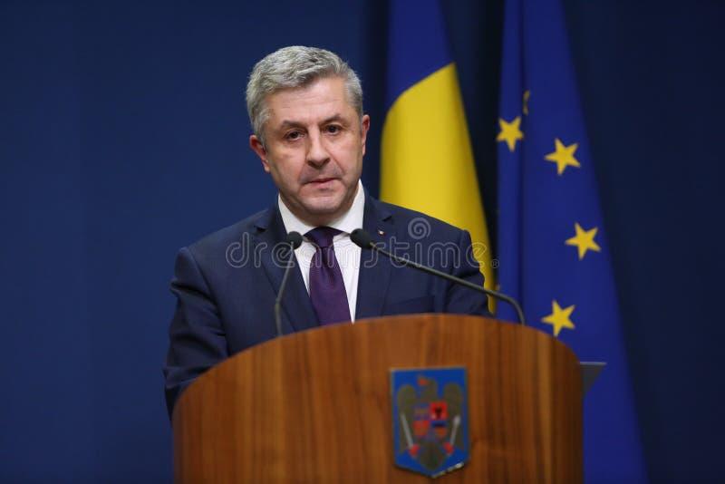 Roemeense Minister van Rechtvaardigheid, Florijn IORDACHE royalty-vrije stock foto