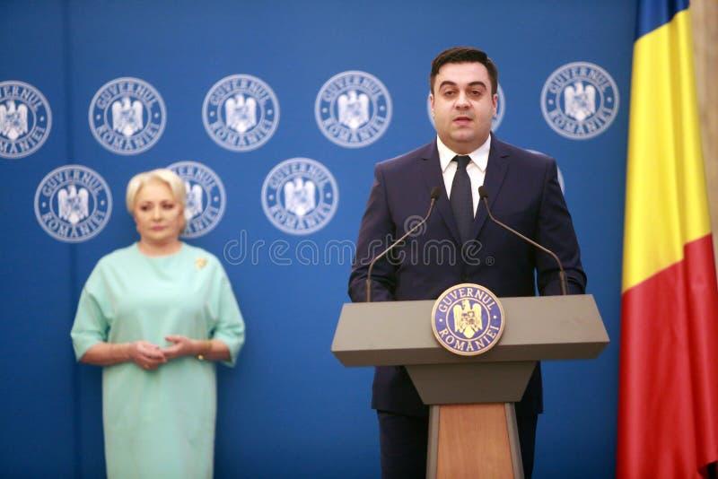 Roemeense Minister van Vervoer Razvan Cuc royalty-vrije stock fotografie
