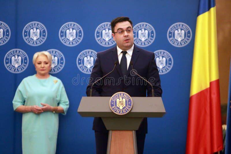 Roemeense Minister van Vervoer Razvan Cuc royalty-vrije stock foto