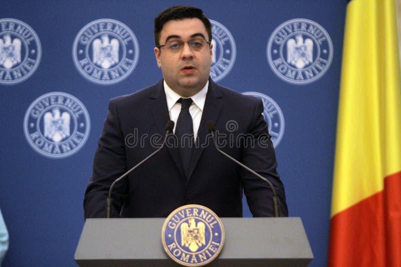 Roemeense Minister van Vervoer Razvan Cuc royalty-vrije stock afbeelding
