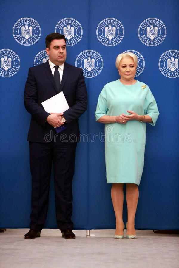 Roemeense Minister van Vervoer Razvan Cuc stock afbeelding
