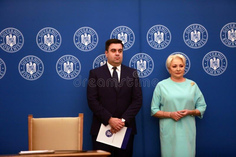 Roemeense Minister van Vervoer Razvan Cuc stock fotografie