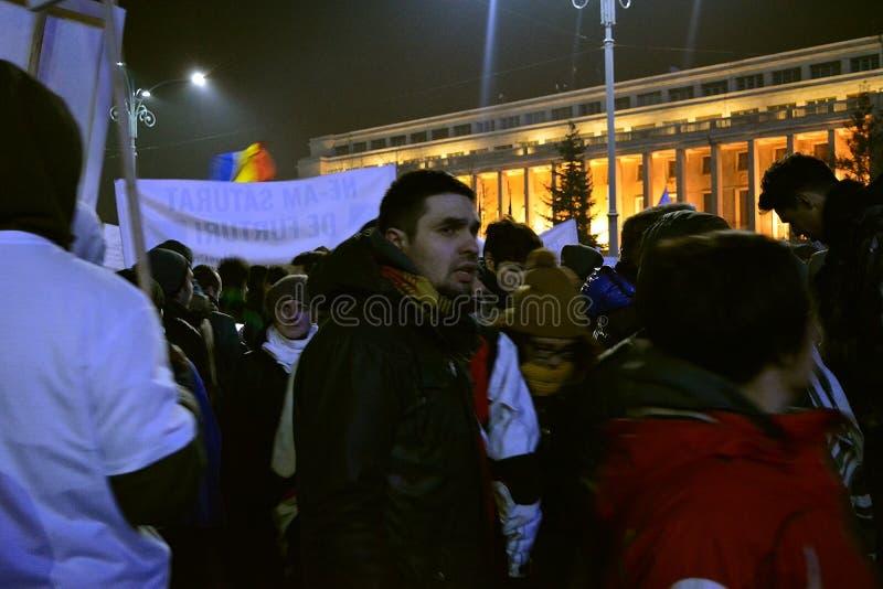 Roemeense protesten stock foto's