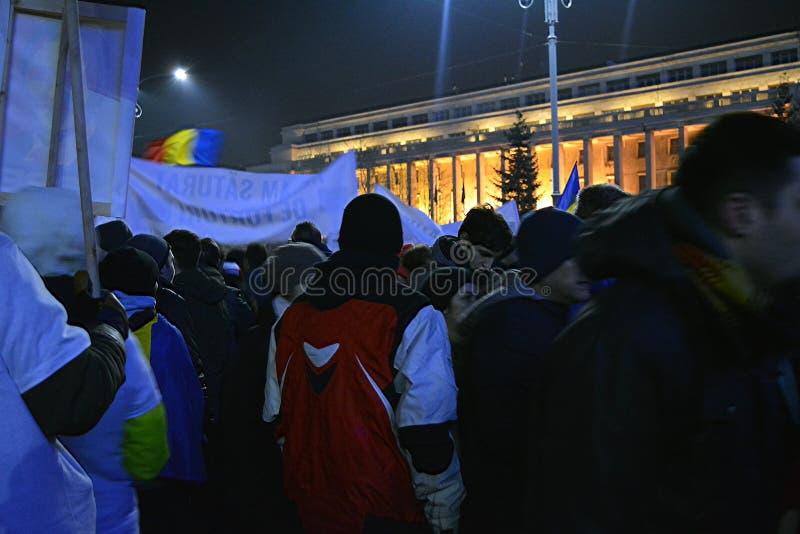 Roemeense protesten stock afbeelding