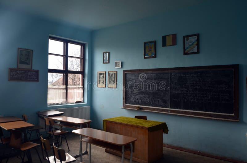 Roemeense schoolklasse stock afbeeldingen