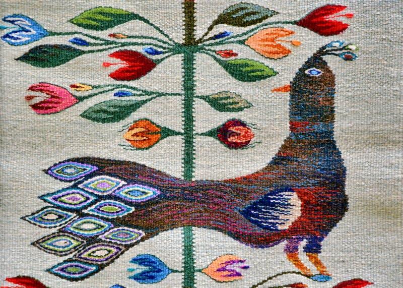 Roemeense traditionele deken stock afbeeldingen
