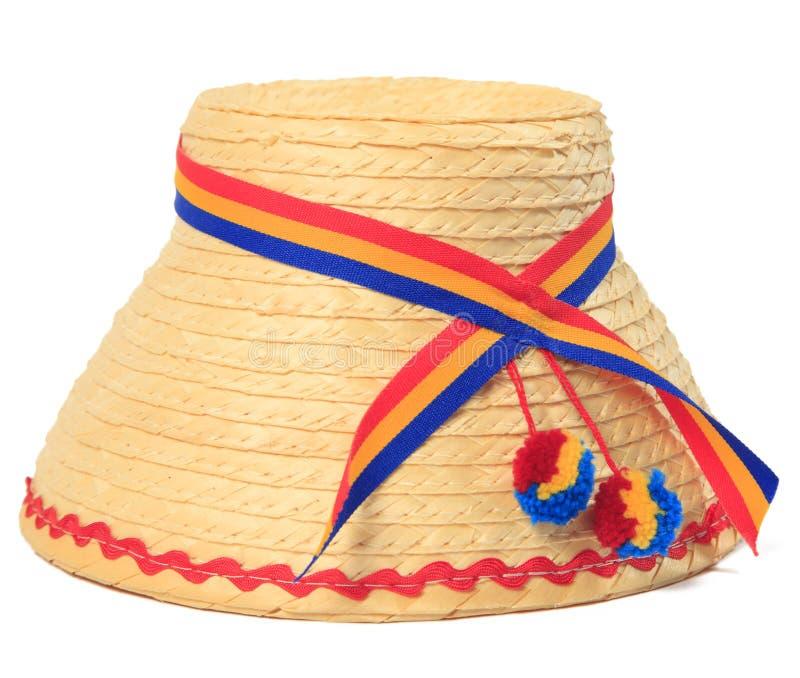Roemeense traditionele hoed royalty-vrije stock afbeeldingen