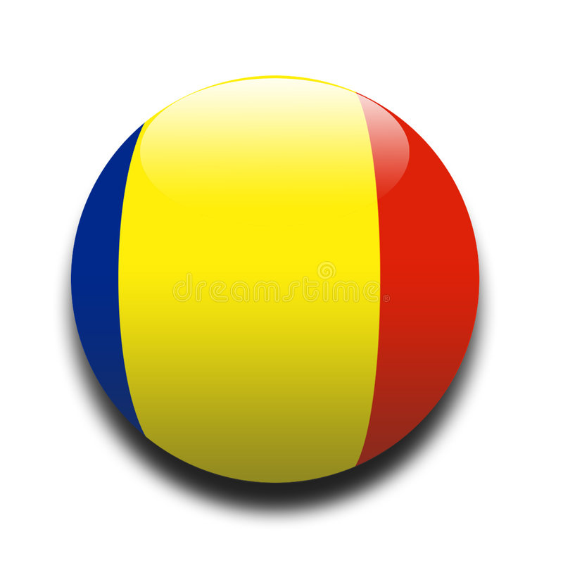 Roemeense vlag royalty-vrije illustratie