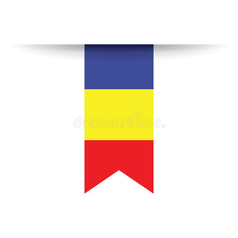 Roemeense vlag stock illustratie