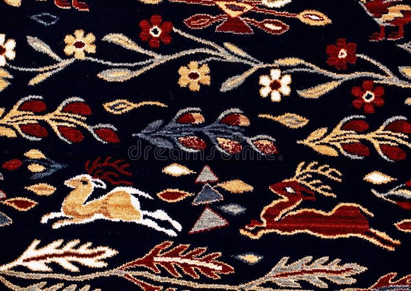 Roemeense volks naadloze patroonornamenten Roemeens traditioneel borduurwerk Etnisch textuurontwerp Traditioneel tapijtontwerp Ca royalty-vrije stock fotografie