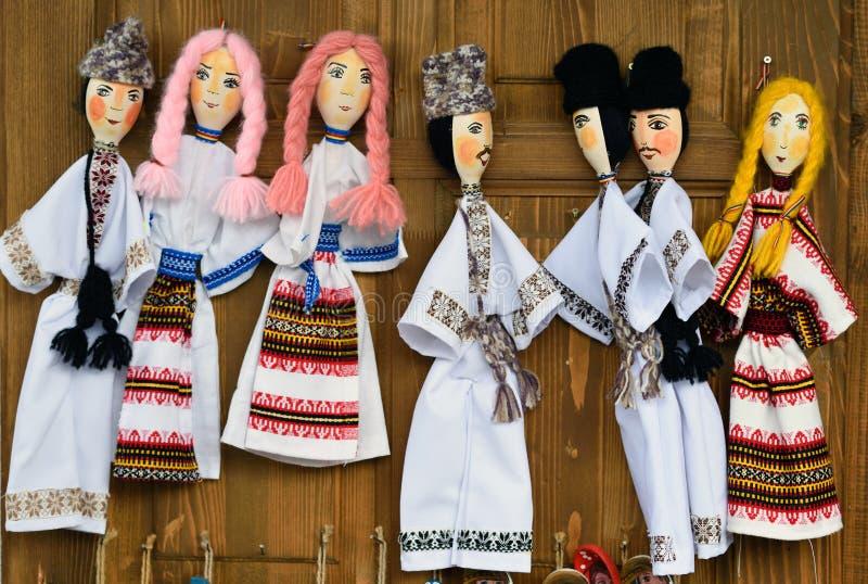 Roemeense volkspoppen van Bucovina royalty-vrije stock foto