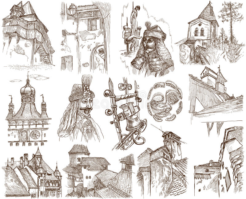 Roemenië royalty-vrije illustratie