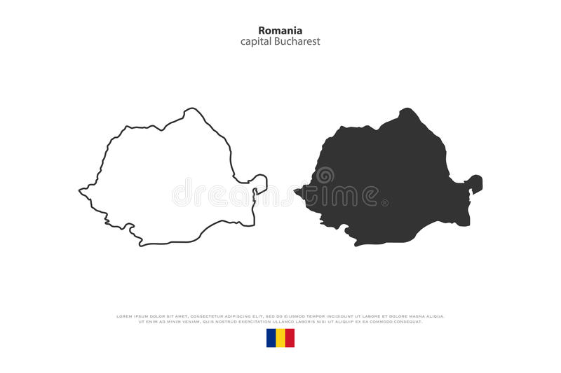 roemenië vector illustratie