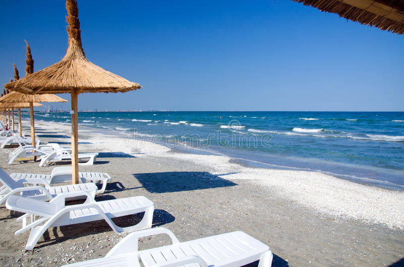 Roemenië - de Zwarte Zee stock fotografie