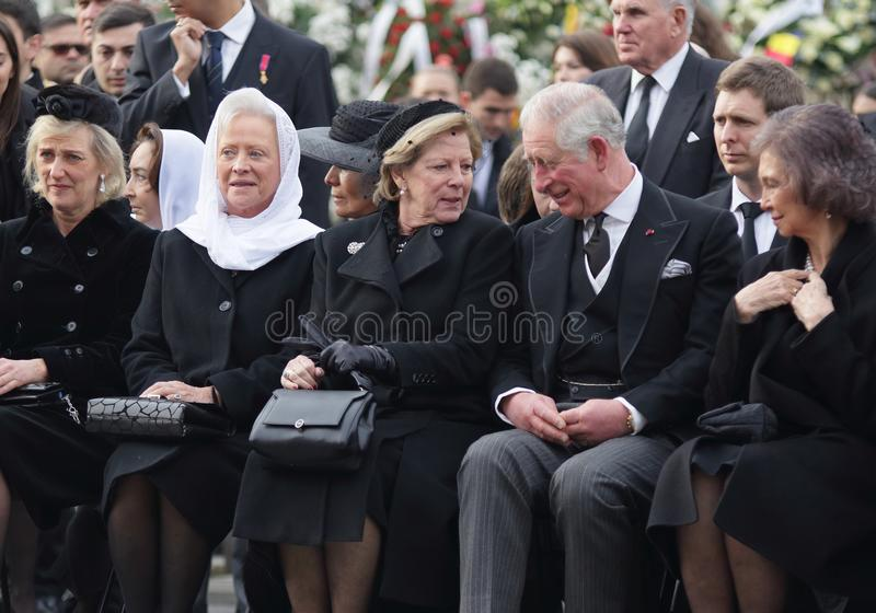 Roemenië - Koning Mchael I - Koninklijke Funerral stock fotografie