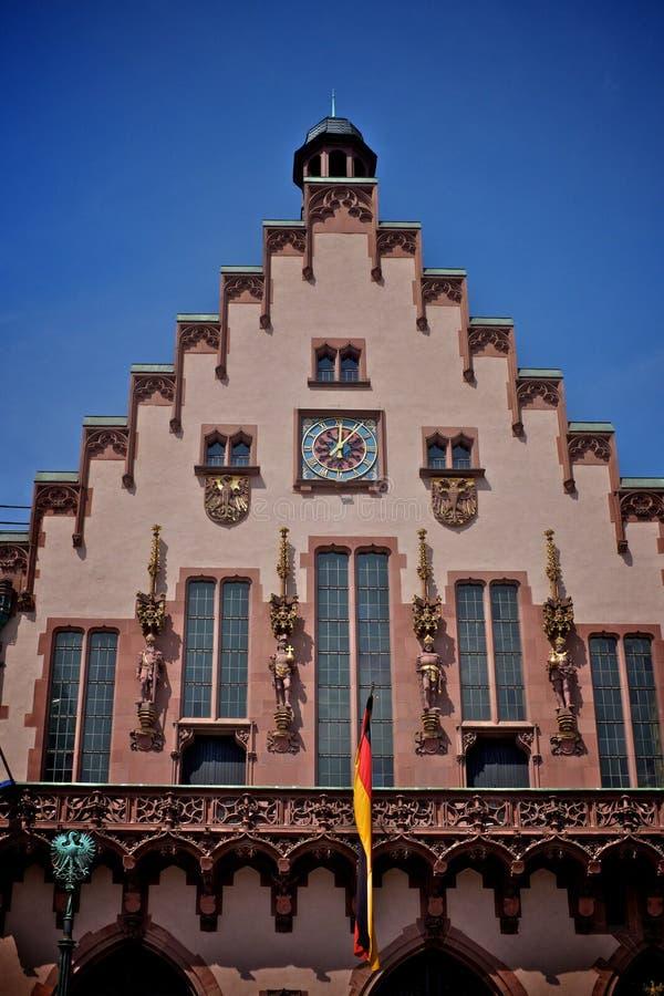 Roemer bij Roemerberg-vierkant in Frankfurt royalty-vrije stock foto's