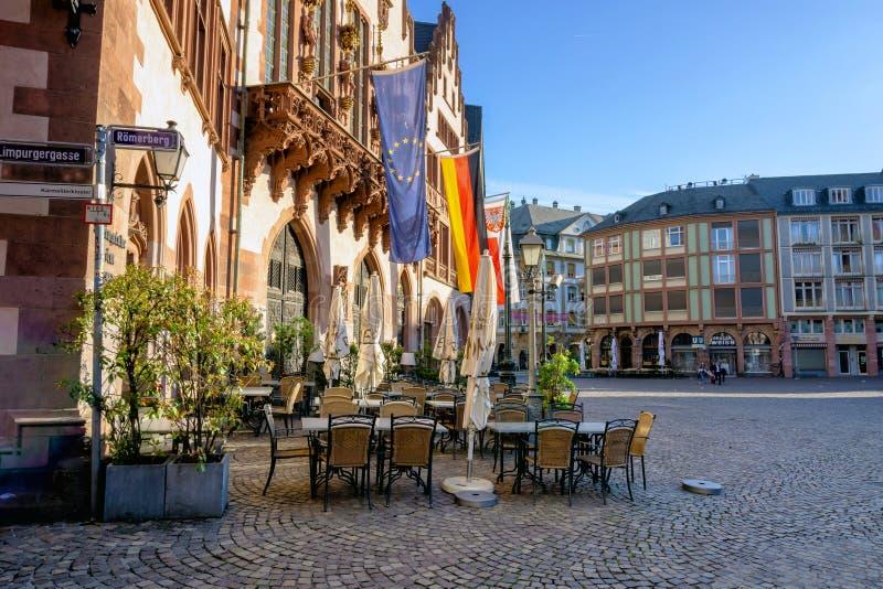 Roemerbergvierkant in Frankfurt-am-Main royalty-vrije stock fotografie