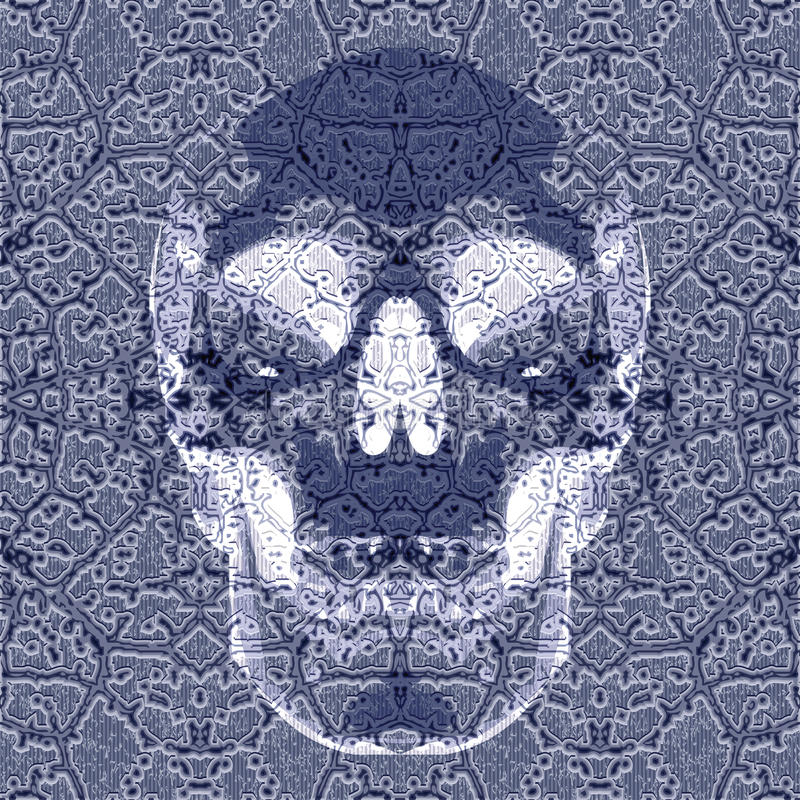 Roentgen effect skull royalty free illustration