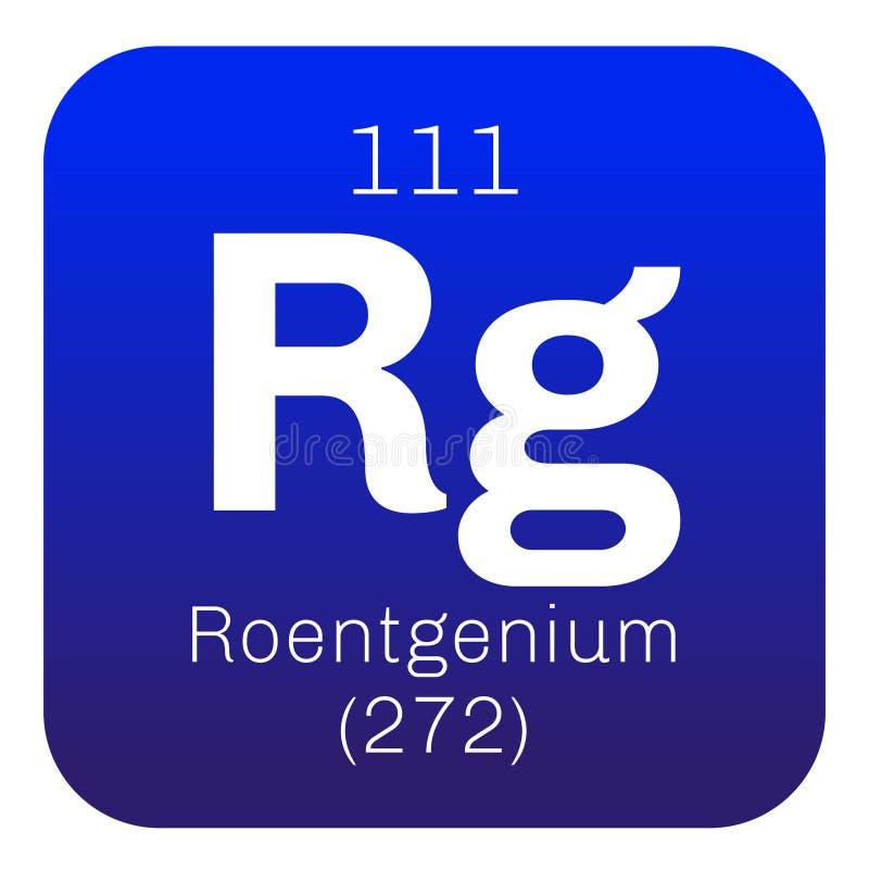 Roentgenium chemisch element vector illustratie