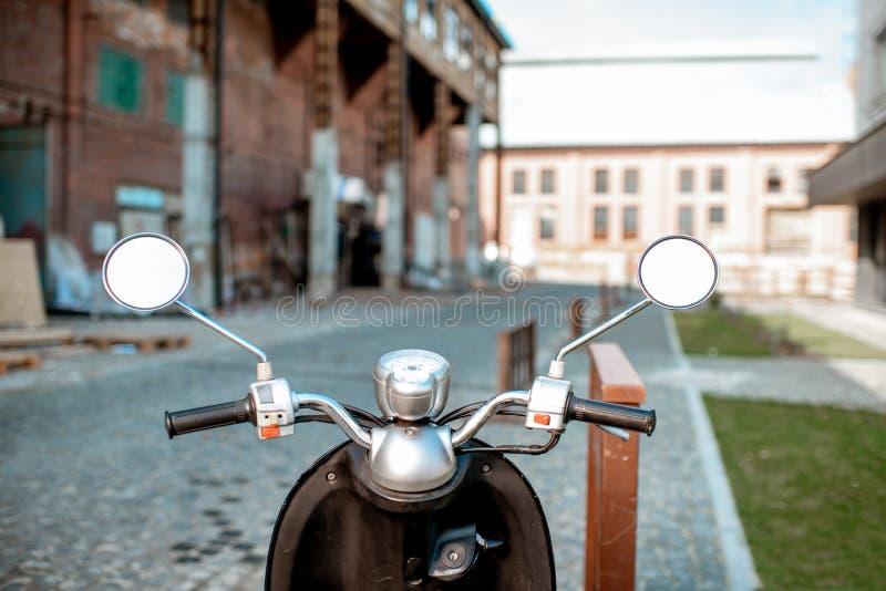 Roer van een retro motor in openlucht stock fotografie