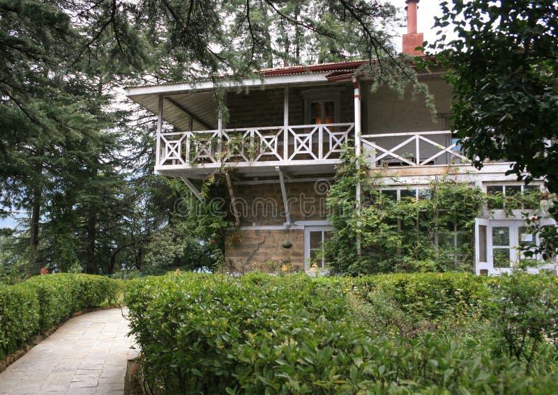 Roerich家博物馆在Naggar -家庭的家庭宅基的在Kullu谷的。 库存照片