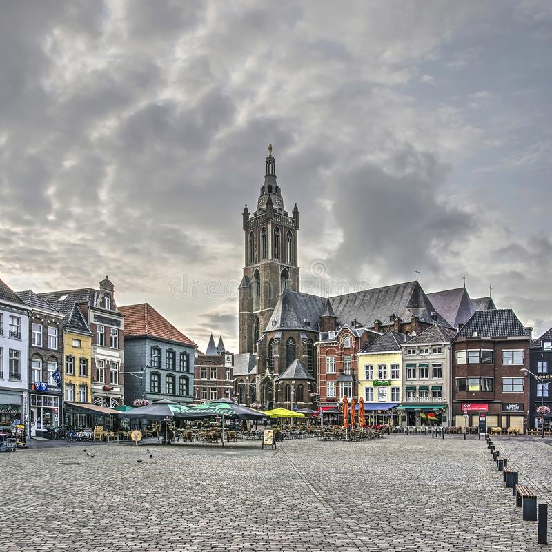 Roermond market square royalty free stock photos