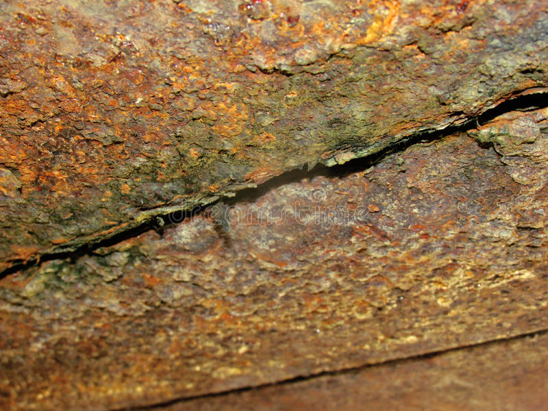 Roest op metaal stock afbeelding