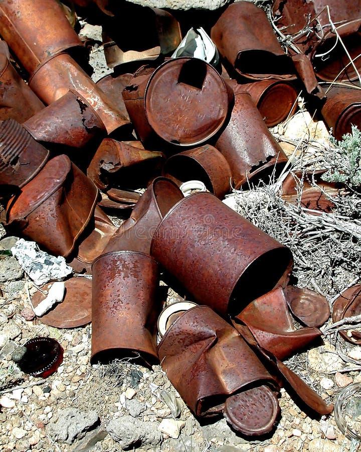 Roestende Blikken Stock Foto's
