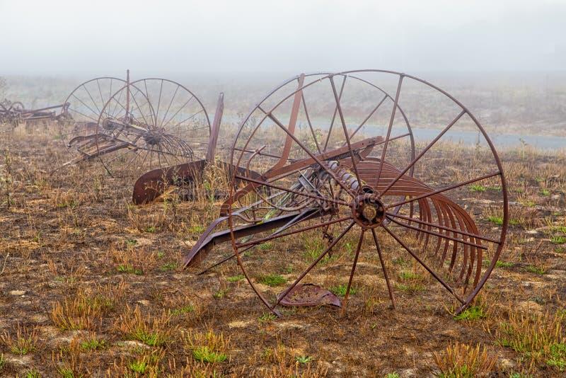 Roestende Oude Paard Getrokken Uitloperploeg royalty-vrije stock afbeelding