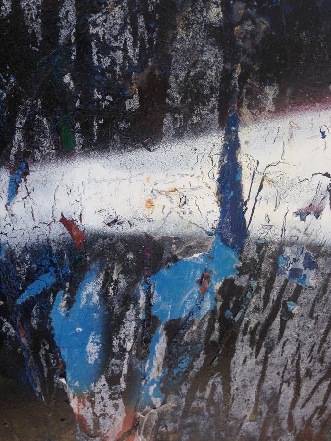 Roestig blauw met de wenk van rood op zwarte royalty-vrije stock afbeeldingen